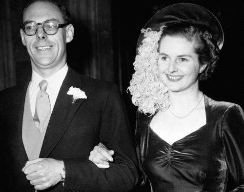 margaret-thatcher-denis-thatcher-1951