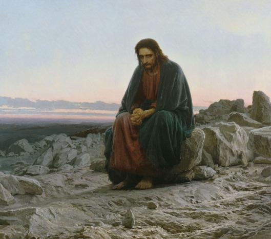 """""""Cristo no Deserto"""", de Ivan Kramskoi."""