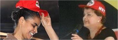 Dilma e Marina MST