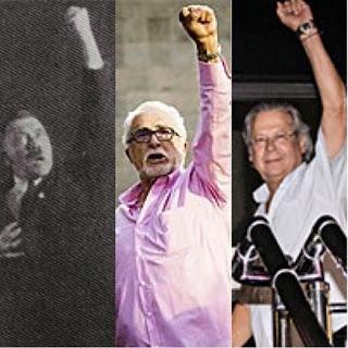 Hitler, Dirceu e  Genoíno são companheiros em levantar o punho
