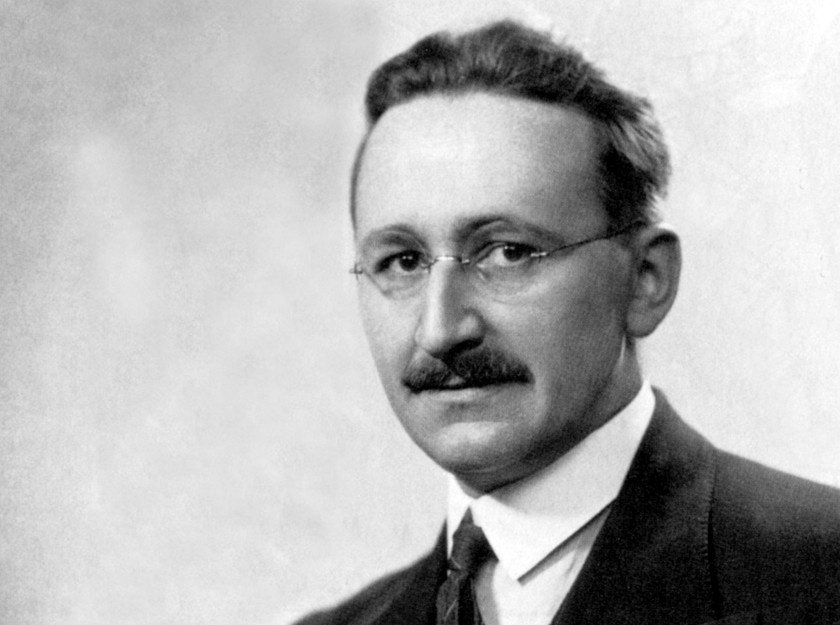 Friedrich von Hayek (1889-1992) at the end of the 30's . Economist and principal theoretician of the new Liberal Thought from the 70's