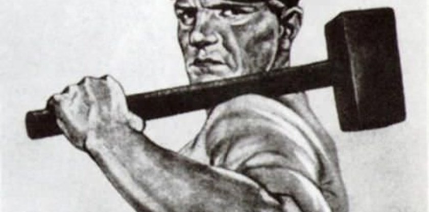 poster nazista trabalhador